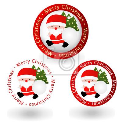 Fototapete Santa Claus Weihnachten Rahmen