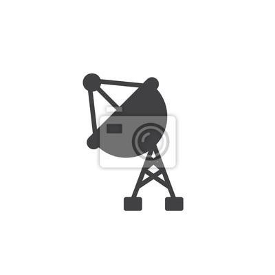 Satelliten-antenne symbol vektor, gefüllte flache zeichen, solide ...