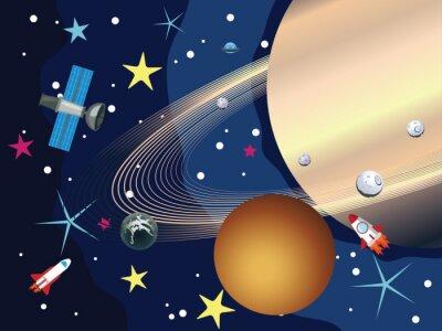 Fototapete Saturn im Weltraum