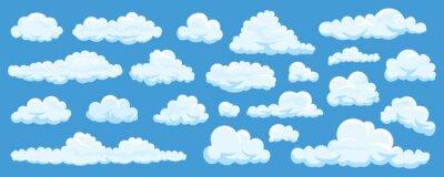 Fototapete Satz Karikaturwolken