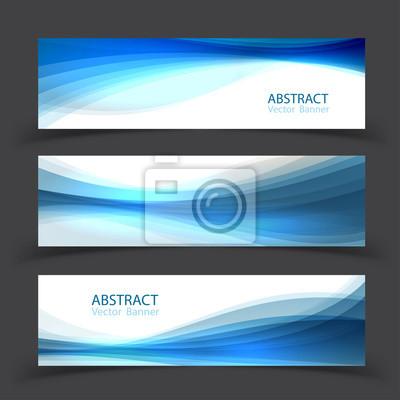 Fototapete Satz von Banner-Vorlagen. Modernes abstraktes Vektor-Illustrationsdesign.