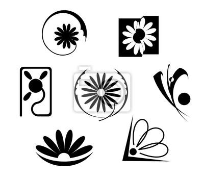 Satz von Blumen Icons