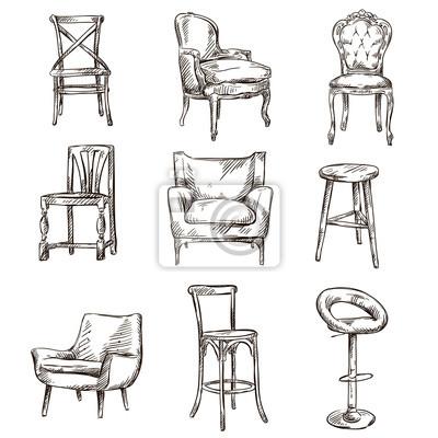 Stühle gezeichnet
