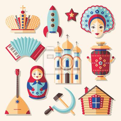 Satz von traditionellen Kultur russischen Icons