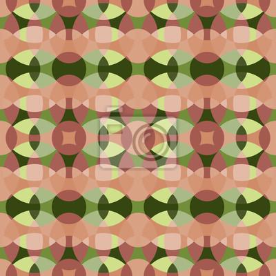 Satz Von Vier Vektor Kreis Fliesen Retro Muster In Grun Rosa
