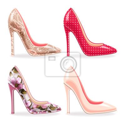 Satz von weiblichen hochhackigen Schuhen