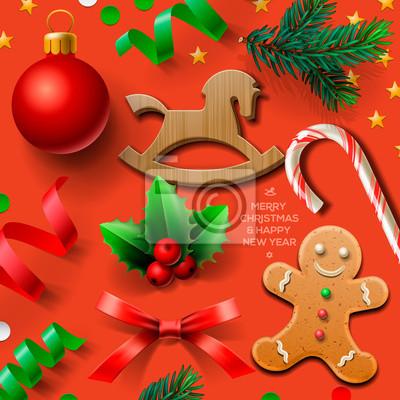 Satz von Weihnachten-Element, Vektor-Illustration eps10.