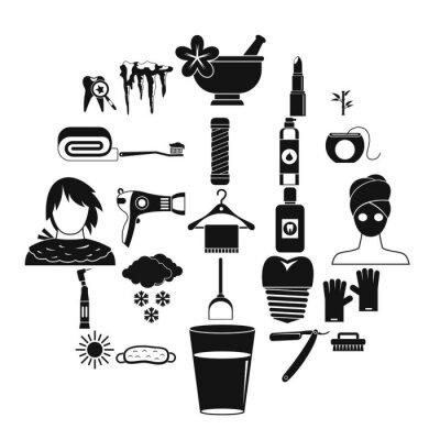 Saubere Icons gesetzt. Einfacher Satz von 25 sauberen Vektorikonen für das Netz lokalisiert auf weißem Hintergrund