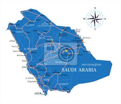 Saudi arabia map fototapete • fototapeten Mekka, saudi, Persischen ...