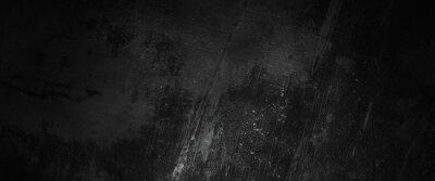 Fototapete Scary dark walls, slightly light black concrete cement texture for background