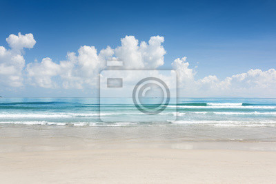 Fototapete Scenic blauen Ozean und tropischen weißen Sandstrand