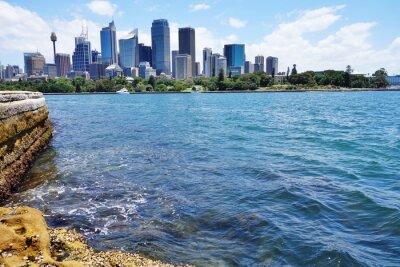Fototapete Scenic Blick auf die Innenstadt von Sydney Skyline aus dem Hafen