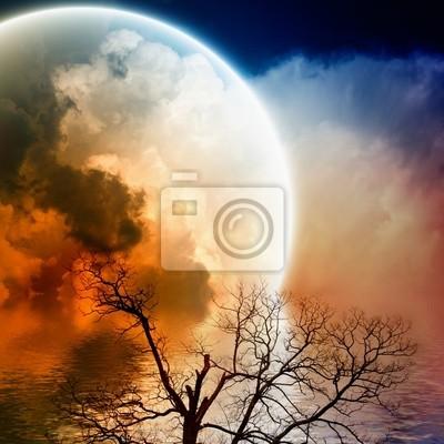 Scenic night landscape
