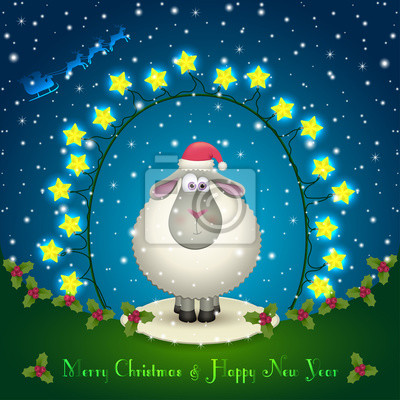 Schafe in den Weihnachtsschmuck