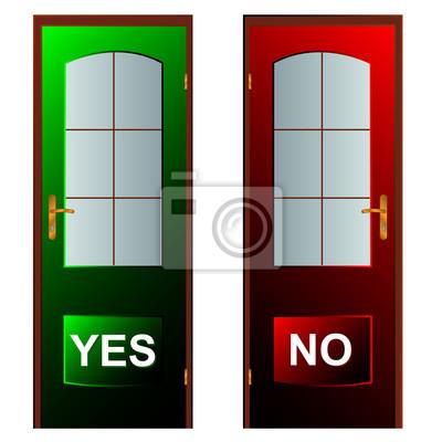 Schaltflächen Ja und Nein