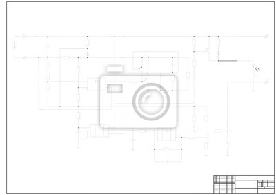 Schaltplan fototapete • fototapeten Handbuch, Elektriker, technische ...
