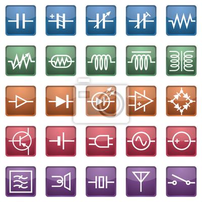 Schaltsymbol symbol, vektor-ai10 fototapete • fototapeten Wandler ...