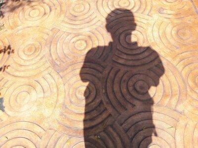 Schatten der Menschen auf Hintergrund
