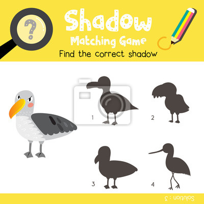 Schatten matching spiel von albatros-tiere für vorschule kinder ...