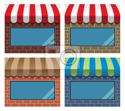 Schaufenster mit Markise