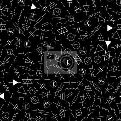 Schematische symbole in der elektrotechnik muster eps10 fototapete ...