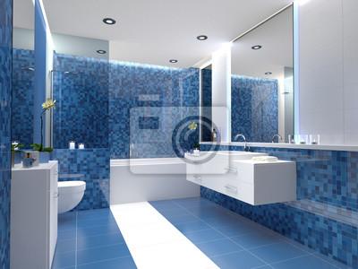 Schickes badezimmer mit fliesen design mosaikfliiesen ...