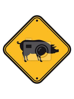Schild Gefahr Warnung Achtung Vorsicht Silhuette Umriss Schatten