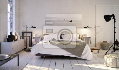 Fototapete Schlafen In Altem Altbau Loft   Schlafzimmer In Der Alten Wohnung