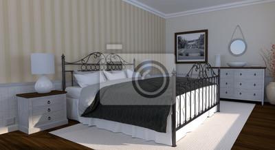 Fototapete: Schlafzimmer landhausstil klassisch