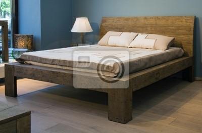 Schlafzimmer Mit Alten Stil Holzbett Fototapete Fototapeten