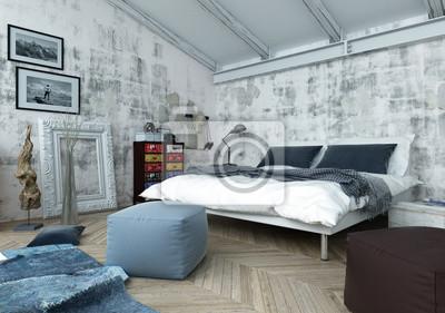 Fototapete: Schlafzimmer mit modernen und antiken dekor