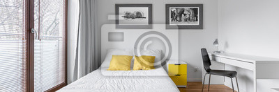 Fototapete: Schlafzimmer mit schreibtisch