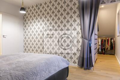 Schlafzimmer mit tapeten fototapete • fototapeten appartment ...