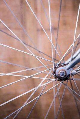 Fototapete Schließen Sie herauf Ansicht der Speichen des Rades eines Fahrrades