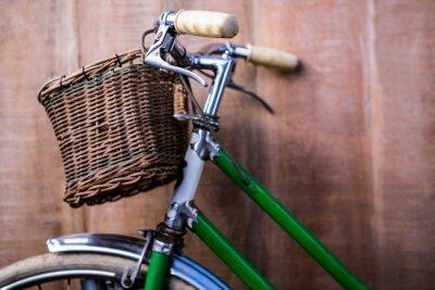 Fototapete Schließen Sie herauf Ansicht eines alten grünen Bikes