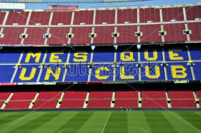 Fototapete Schließen Sie oben vom Fußballstadion Lager Nou in Barcelona, Spanien.