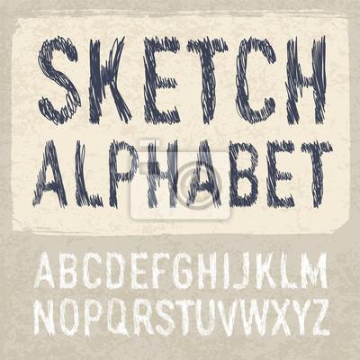 Schlüpfen Alphabet Symbole. Vektor, EPS-10.