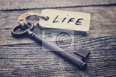 Fototapete Schlüssel und Label