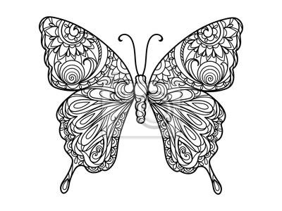Schmetterling Malbuch für Erwachsene Vektor