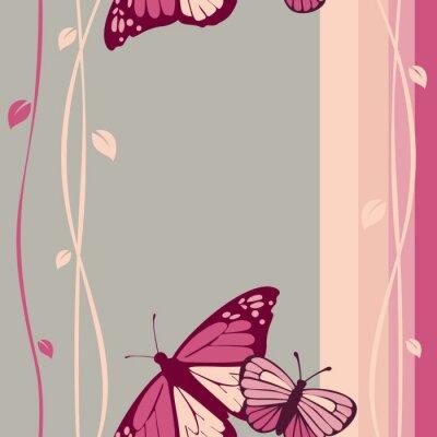 Fototapete Schmetterlinge Muster