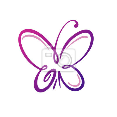 Schmetterlings-logo-schablone, vektor illustration fototapete ...