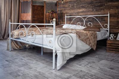Schmiedeeisen Bett Fototapete Fototapeten Myloview De