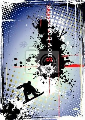 schmutzig Snowboarden Poster