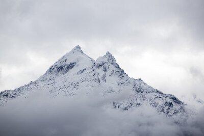 Fototapete Schnee bedeckt Berggipfel in der Cordillera Blanca, Peru