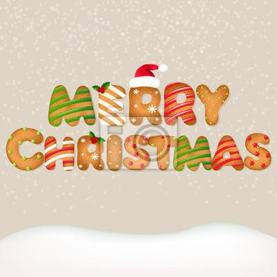 Schnee mit Weihnachts Text