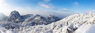 Fototapete Schnee-Szene von Huangshan Hügel im Winter