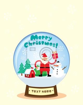 Schneekugel Weihnachtsmann