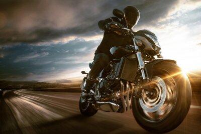 Fototapete Schnelle Motorrad-