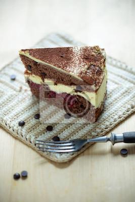 Schoko Kirsch Torte Mit Cremefullung Vegan Fototapete Fototapeten