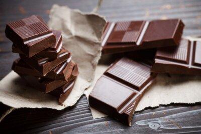 Fototapete Schokolade mit rustikalen Papier